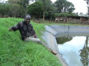 Ibrahim at the pond