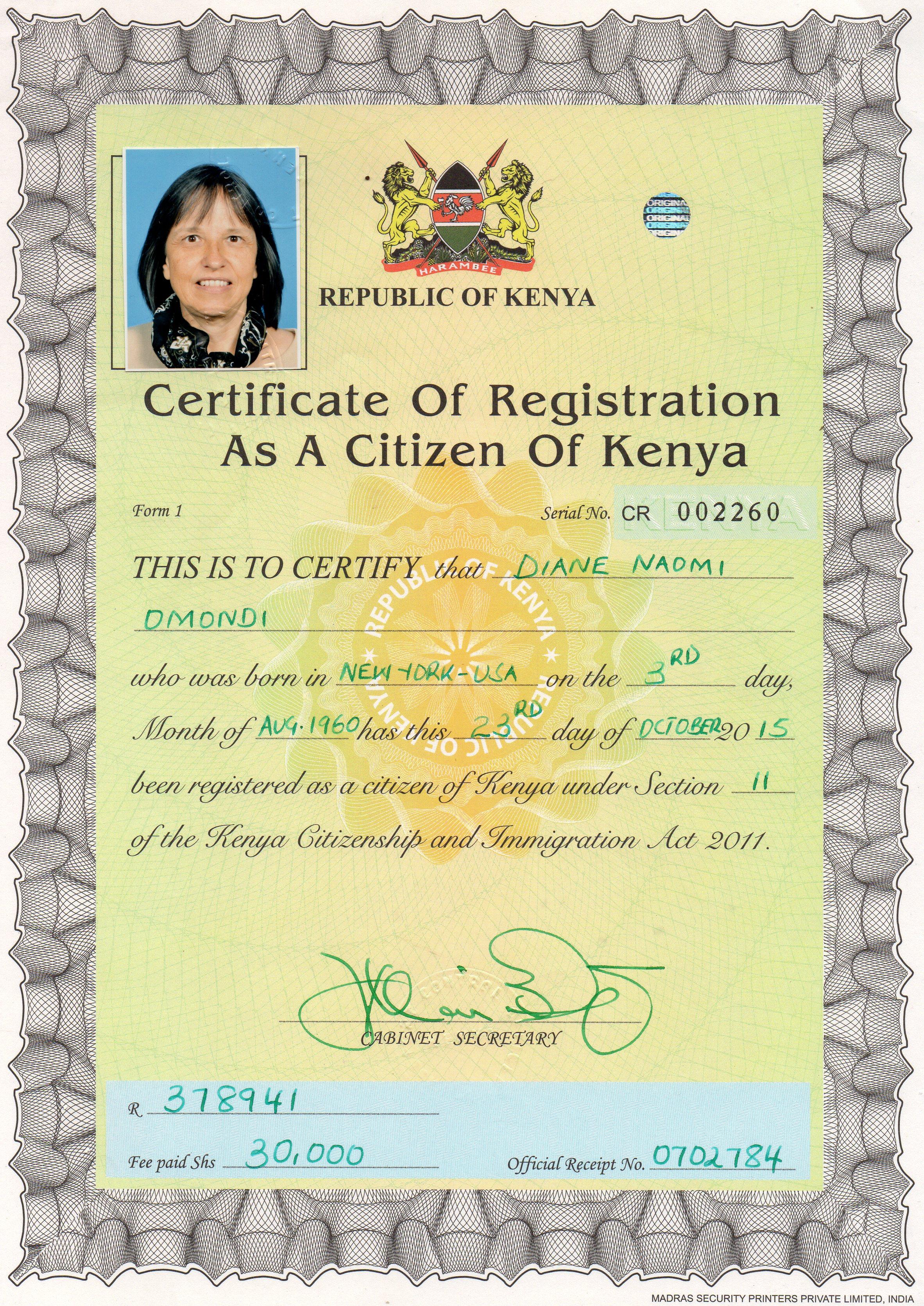 Dual Citizen Omondis In Kenya
